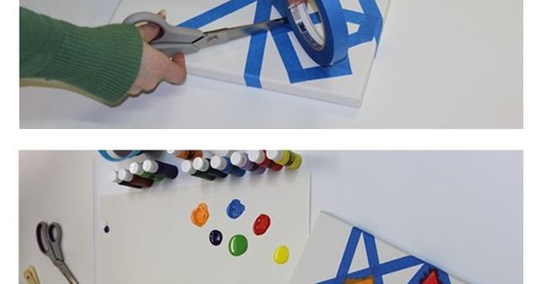 fabulous DIY canvas art for kids