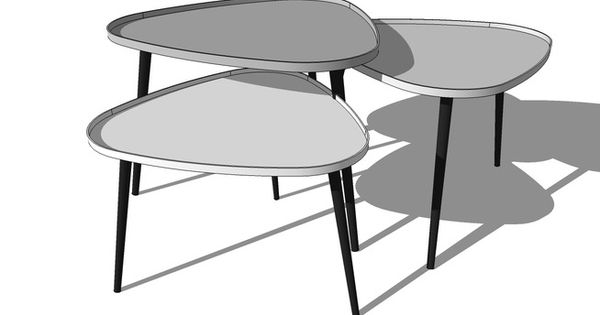 Tables basses gigogne galet maisons du monde r f 138908 for Table basse tripode gigogne