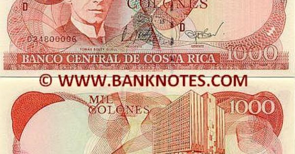 Costa Rica 1000 Colones 2004 Front Tomas Soley Guell Back