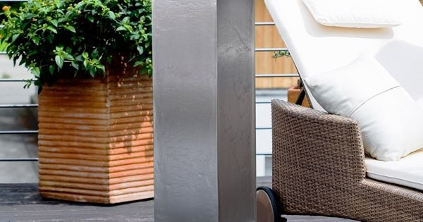 edelstahl brunnen wasserspiele f r garten terrasse. Black Bedroom Furniture Sets. Home Design Ideas