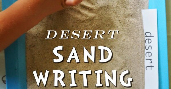 desert sand writing tray  plus free printable desert