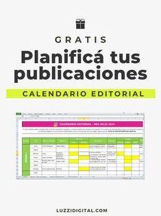 Descarga Una Plantilla De Calendario Editorial Gratuita Para Excel Para Organizar To En 2020 Consejos Para Redes Sociales Manejo De Redes Sociales Calendario Editorial