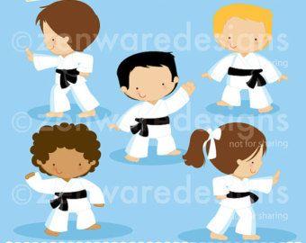 Rainbow Unicorn Clipart Etsy Cumpleanos De Karate Dibujo De Escuela Karate
