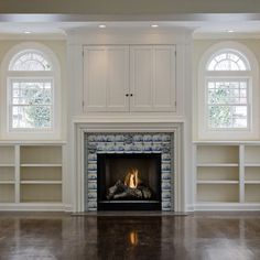How To Build A Tv Cabinet With Doors Over A Corner Fireplace Google Search Tv Above Fireplace Fireplace Built Ins Fireplace Design
