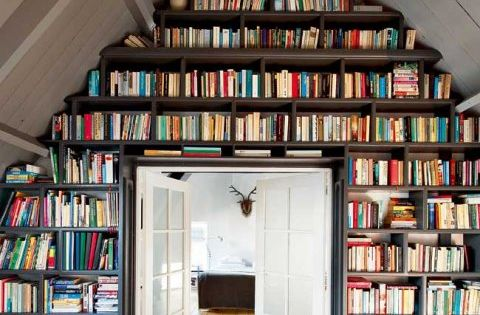 Bookshelves for the Attic Alcove books Home inspiration decorate ideas library alcove