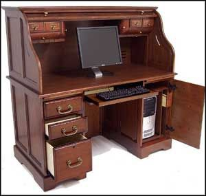 Eliminate Clutter With Roll Top Computer Desk Office Furniture Office Computer Desk Woodworking Desk Plans Computer Desk Plans
