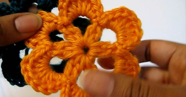 Crochet six petal flower - Free pattern and video - YarnObsession.