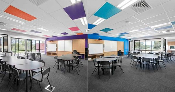 St Marys Primary School Colorful Ceiling Interior