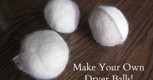 Forget fabric softener make your own dryer balls fabrics cleaning and frugal - How to make your own fabric softener ...