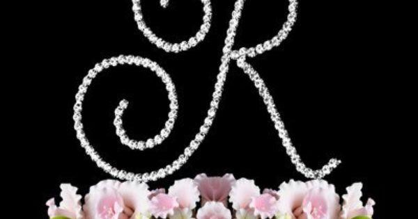 renaissance monogram wedding cake topper large letter r by elegant bridal        amazon com