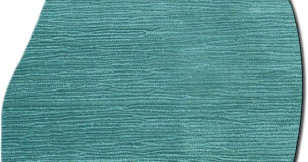 Modernrugs Com Odd Shaped Blue Wave Dune Textured Modern