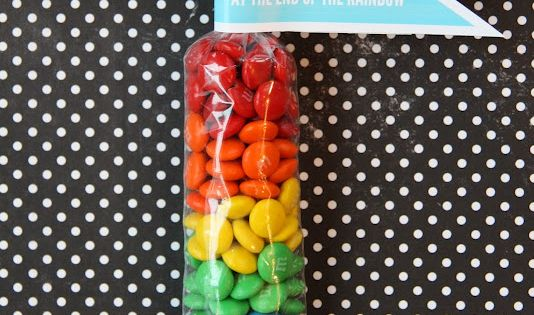 St Patrick's Day rainbow treat bags