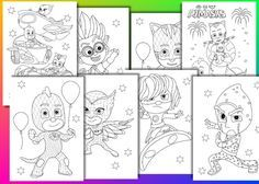 Pj Masks Coloring Pages Pj Masks Birthday Party Favor Instant Download Pdf File Pj Masks Coloring Pages Birthday Party Games For Kids Mask Party