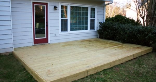 EXACTLY what I've been wanting to do-wood deck over the ...