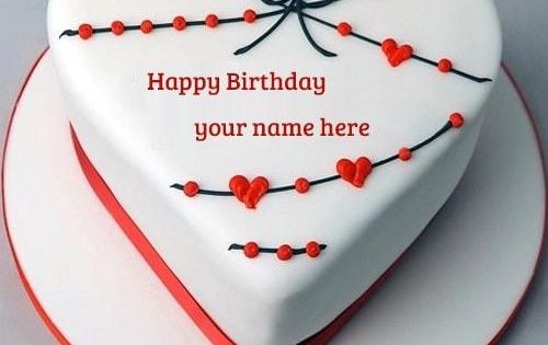 Beautiful Birthday Cake Images With Name Editor : write name on beautiful heart shape happy birthday cake ...