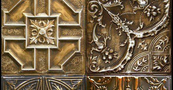Industrial Steampunk Authentic Tin Tiles For Ceilings