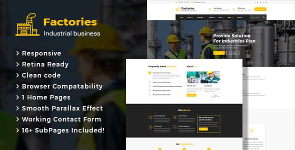 Factories Industrial Business Html Template Corporate Web Design Html Templates Template Site