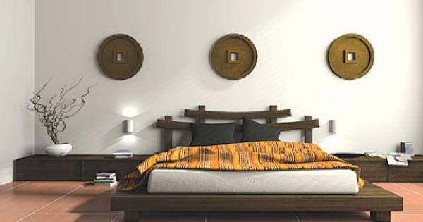 Chambre zen d coration design plate forme lit oriental for Decoration chambre oriental