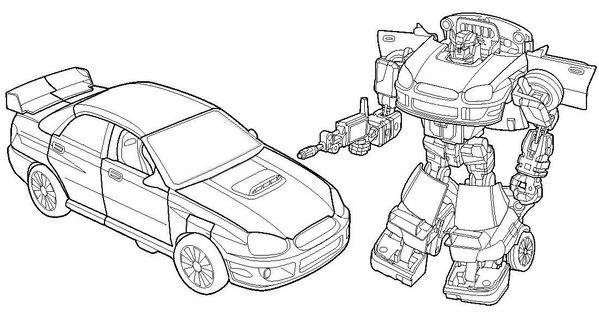 Coloriage transformers avant et apres transformation for Ironhide coloring pages