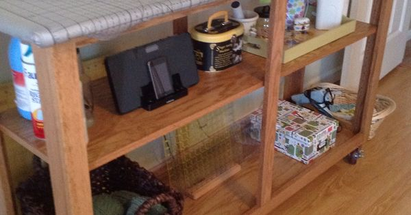 Diy Sewing Room All In One Cutting Table Amp Ironing Board