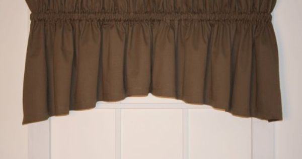 Dayita Solid Color Crescent Valance Curtain 80 Inch By 17 Inch