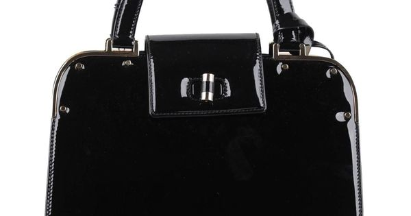 ysl cassandre tassel clutch - YVES SAINT LAURENT Black Patent Leather UPTOWN Bag HANDBAG Satchel