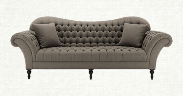Club 96 Tufted Upholstered Sofa In Wheatfield Tweed