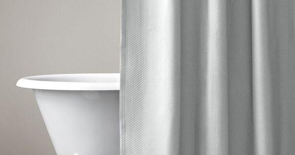 Diamond Matelassé Shower Curtain 84 Inch Length