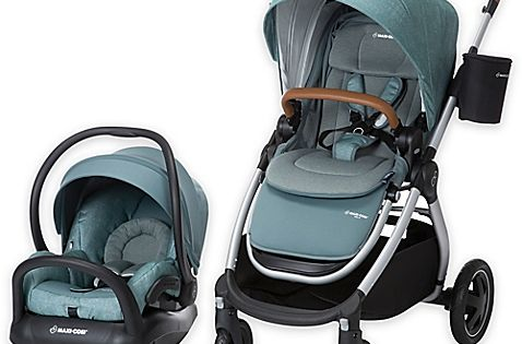 Maxi Cosi 2017 Adorra Travel System Silver Frame In Nomad Green Travel System Baby Strollers Car Seats