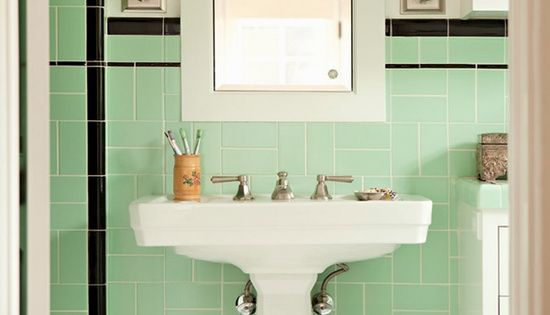 La salle de bain verte id es d co et photo menthe for Deco salle de bain vert menthe