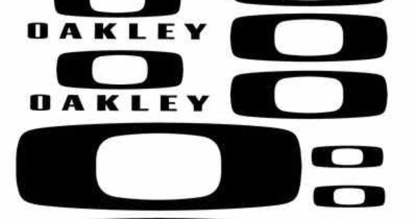 Set of 14 Oakley Logo Vinyl Decal Stickers Choose Color ...