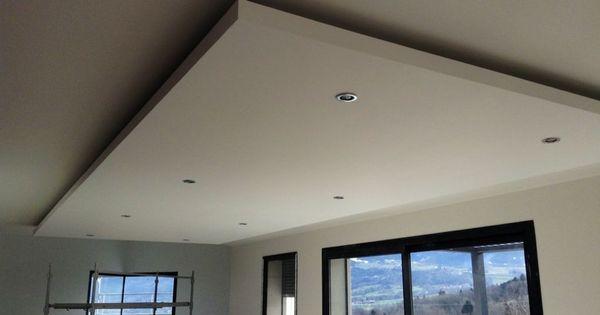 faux plafond en ba13 avec spots int gr s cuisine pinterest faux plafond plafond et spots. Black Bedroom Furniture Sets. Home Design Ideas