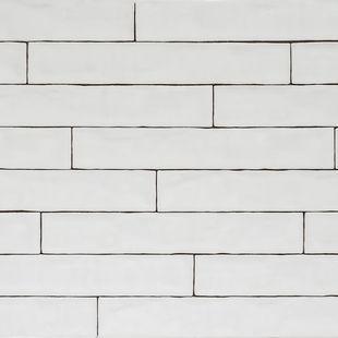 Handmade Natura Gloss White Long Subway Tiles 396 65 Tiles