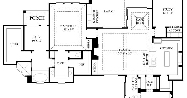 Southwest house plan 61559 squares formal dining rooms for Southwest house plans with courtyard
