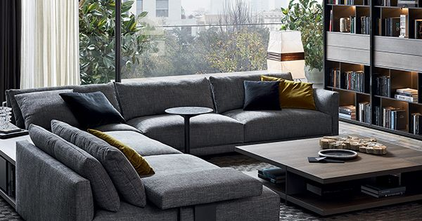 Bristol Sofa By Jean Marie Massaud Double Backrest And