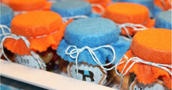 Party Favors For her twin boys' first birthday party, Mae Armstrong gathered