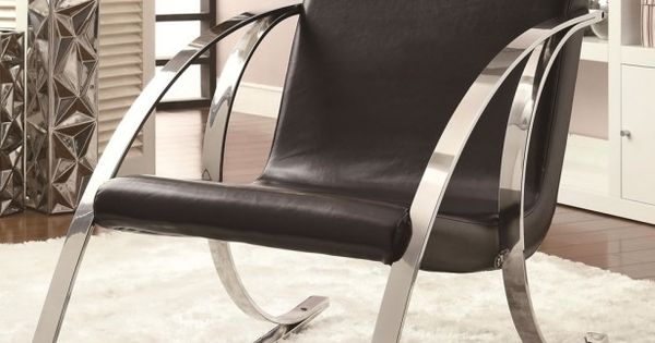 Iron Rocking Chair With Black Cushions In Modern Rocking Chair Design ...