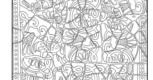 mosaic masterpiece coloring pages - photo#12