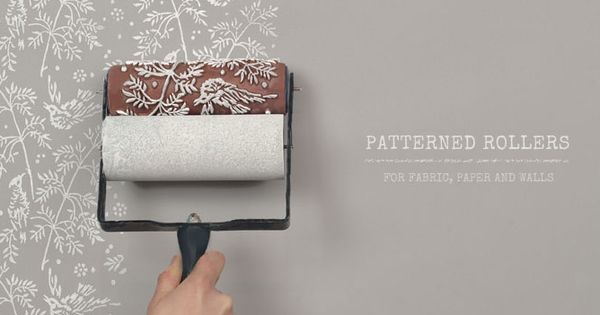 Patterned paint rollers by The Painted House | See more about Painted