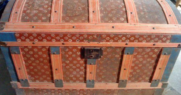 Restauraci n de un ba l antiguo maletas pinterest - Reparar muebles antiguos ...