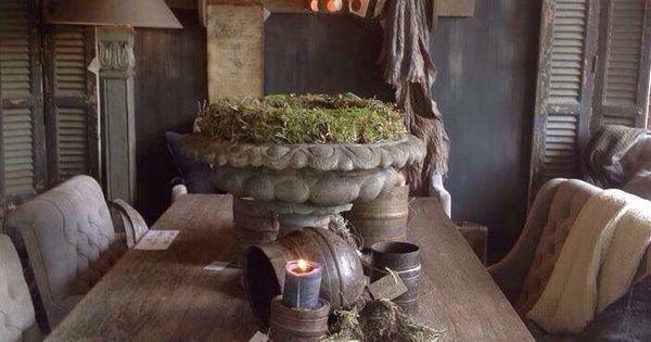 Pin van barbara festi op arredamento pinterest landelijk wonen eetkamer en interieur - Deco eetkamer oud ...