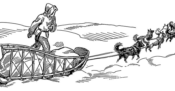 alaskan dog sled coloring pages - photo#29