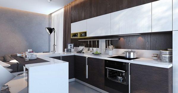 Wenge kitchen units ipc204 kitchens with contrast al for Wenge kitchen designs