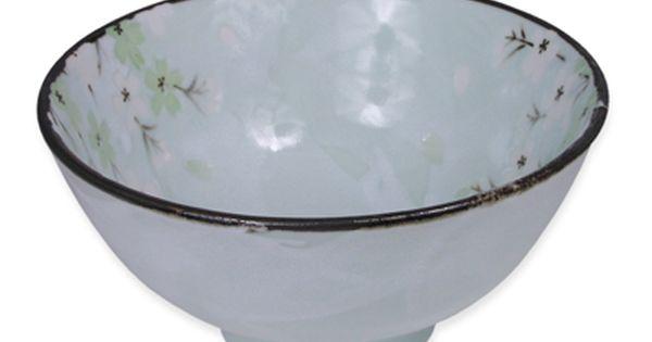 6 1 2 Inch Green Cherry Blossom Medium Donburi Bowl