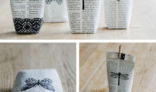 zeitungspapier geschenkverpackung selber machen und kleine geschenke sch n verpacken. Black Bedroom Furniture Sets. Home Design Ideas