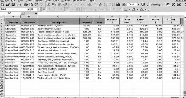 Roof Cost Estimation General Construction Sheet Construction Estimating Software Roofing Estimate Roof Cost
