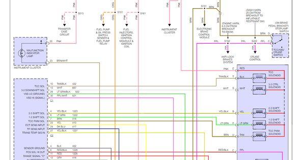 Original In 4l60e Transmission Wiring Diagram In 2020 Diagram Transmission Electrical Diagram
