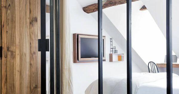 Inspiration des portes vitr es style atelier porte for Paroi vitree style atelier