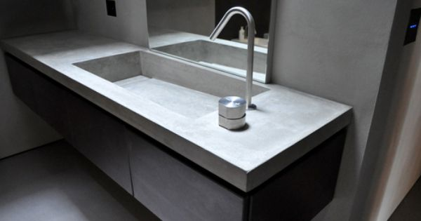 lavabi bagno in cemento resina - Cerca con Google  Bagno  Pinterest  Material girls and Concrete