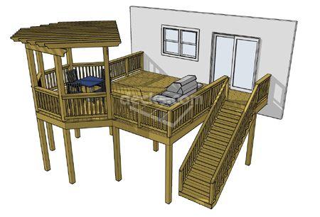 Plan Name 1lp2016 Square Feet 310 Width 23 6 Depth 19 6 Height 8 2 Levels 1 Deck Plans Diy Diy Deck Deck Design